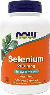 Now Selenium 200mcg 300 Veg Capsules - Yeast Free, Non-GMO, Vegan, Kosher