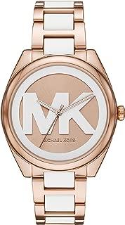 Michael Kors Women's Janelle Three-Hand Rose Gold-Tone Stainless Steel Watch MK7134