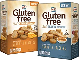 Lance Gluten Free Crackers, Peanut Butter and Cheese Sandwich Crackers, 5 Ounce (Pack of 4)