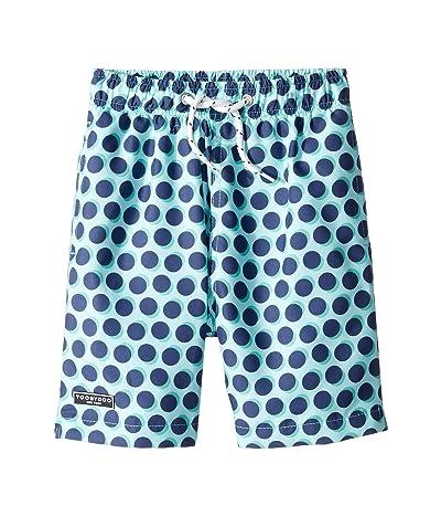 Toobydoo Classic Swim Shorts (Infant/Toddler/Little Kids/Big Kids) (Navy Polka Dot) Boy