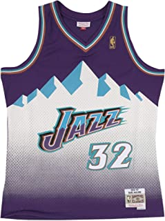 Mitchell & Ness Karl Malone 32 Replica Swingman NBA Jersey Utah Jazz Purple HWC Basketball Trikot