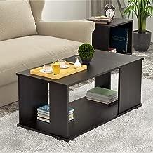 Bluewud Noel CT-NO-RTW Coffee Table with Shelves (Wenge)