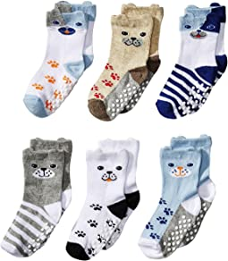 Non-Skid Dog Socks 6-Pack (Infant/Toddler)