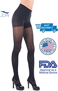 Jomi Compression Pantyhose Women Collection, 20-30mmHg Sheer Closed Toe 276 (Large, Black)