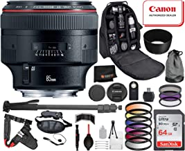 Canon EF 85mm f/1.2L II USM with Professional Bundle Package Deal Kit for EOS 7D Mark II, 6D Mark II, 5D Mark IV, 5D S R, 5D S, 5D Mark III, 80D, 70D, 77D, T5, T6, T6s, T7i, SL2