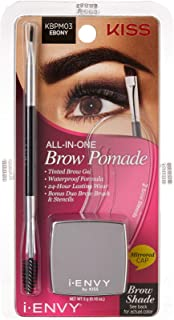 I Envy by Kiss All In One Brow Pomade Ebony - KBPM03