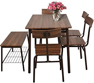 Amazoncom 6 Pieces Table Chair Sets Kitchen Dining Room
