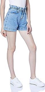 Shorts Jeans Clochard Com Dobra, Coca-Cola Jeans, Feminino