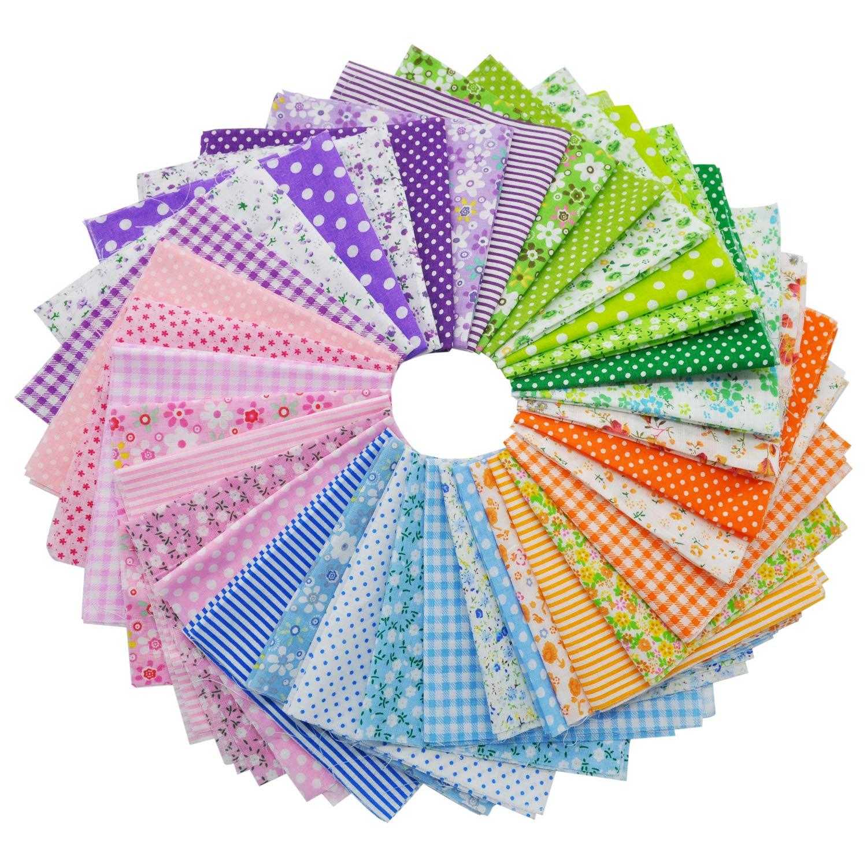35Pcs Tela Patchwork de Algodón Patrón Floral 25 cm x 25 cm Paquete de Telas de Algodón Patchwork Colorido Retales Tela para Coser Costura de Acolchado Artesanal Patchwork Diy Textiles: Amazon.es: Hogar