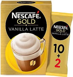 Nescafe Gold Cappuccino Vanilla Latte Coffee Mix 18.5g (10+2 Sachets Free)