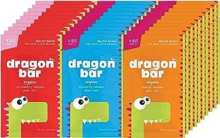 Dragon Bars | All-Natural, Organic, Healthy Snacks for Kids | 1.05 oz (30g) (Variety Box, Box of 30)