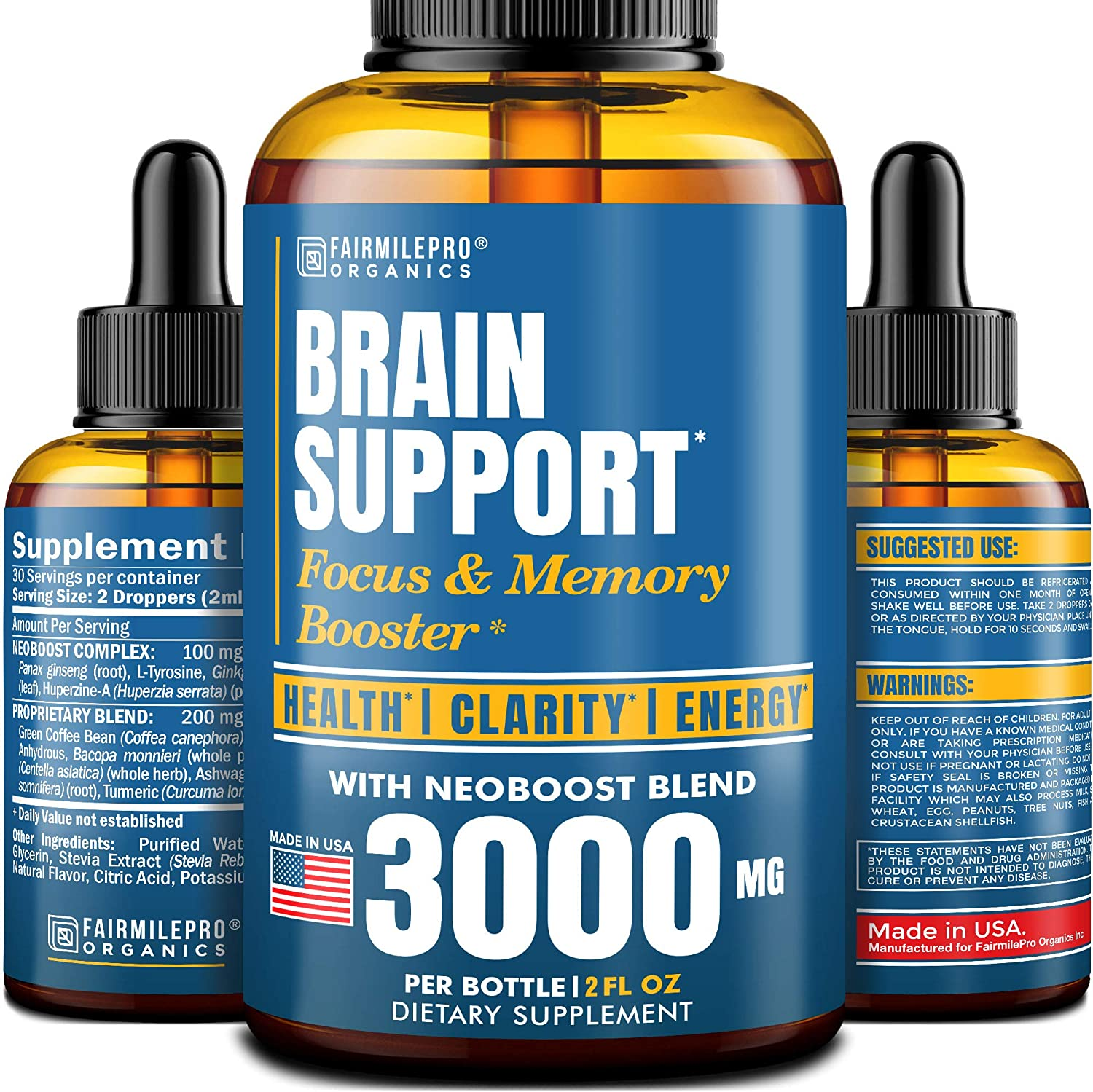 Brain Supplement for Memory Focus Clarity Energy Cheap mail order sales N Natural OFFicial shop -