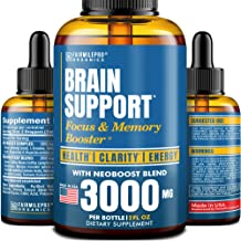 Brain Supplement for Memory, Focus, Energy & Clarity - Natural Nootropic with Ginkgo Biloba, Ginseng & L-Tyrosine - USA Ma...