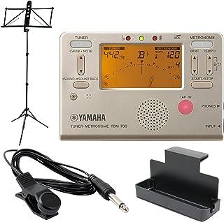YAMAHA TDM-700G ゴールド チューナーメトロノーム YAMAHA MS-250ALS 譜面台付き 4点セット