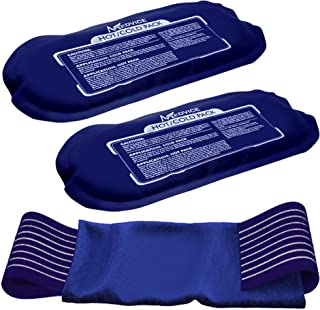 Medvice 2 Reusable Hot and Cold Ice Packs for Injuries, Joint Pain, Muscle Soreness and Body Inflammation - Reusable Gel W...