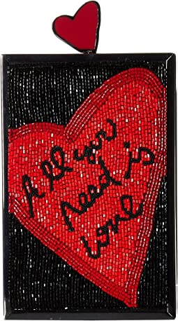 Alice + Olivia - Sophia All You Need Is Love North/South Clutch