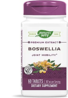 Nature's Way Standardized Boswellia, 307 mg per serving, 40% Boswellic Acids per serving, TRU-ID Certified, Vegetarian, 60 Tablets (Packaging May Vary)
