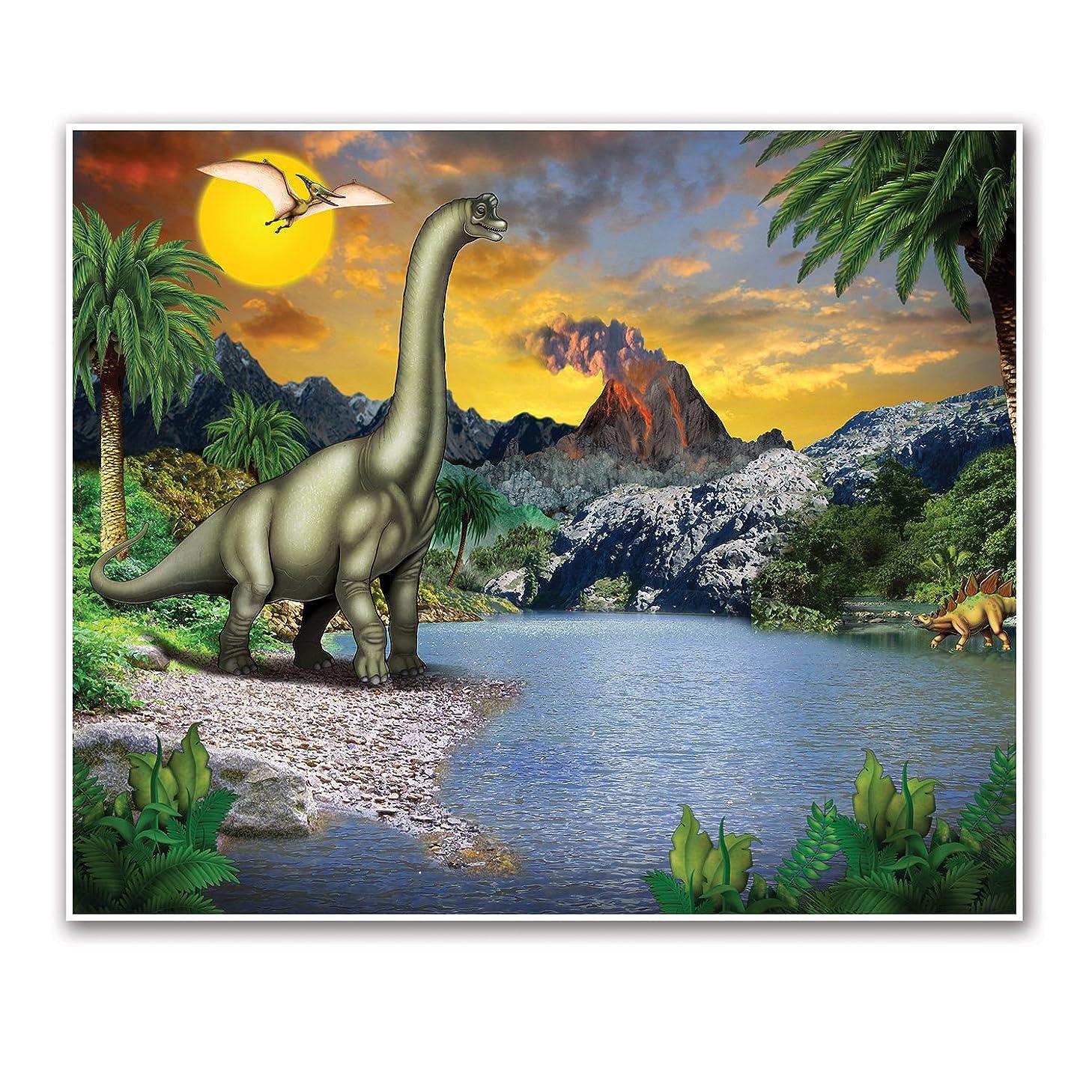 Beistle Dinosaur Insta-Mural Wall Decor | Dinosaur Theme Birthday Party Supplies & Decoration