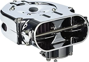 Kuryakyn 8446 Standard Hypercharger Air Cleaner/Filter for Harley-Davidson Motorcycles or Custom Applications, Chrome