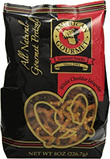 American Gourmet Pretzels Cheddar Jalapeno, White, 8 oz