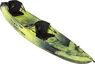 Ocean Kayak Malibu Two XL Tandem Sit-On-Top Recreational Kayak, Lemongrass Camo, 13 Feet 4 Inches