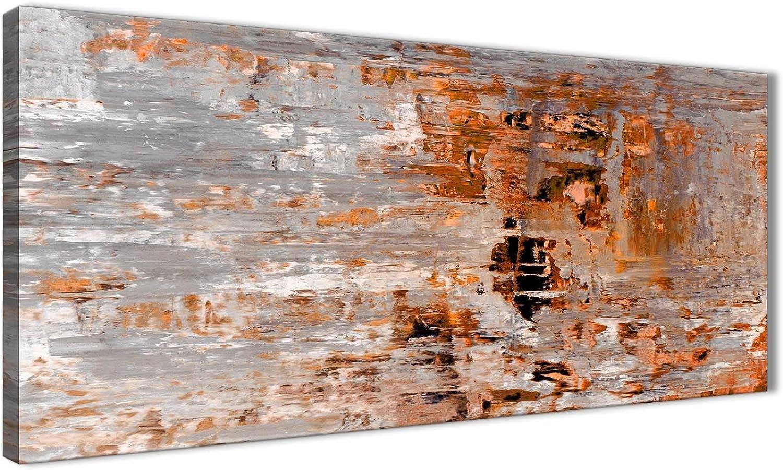 Burnt Orange Grau Wandbild Ölgemälde Wohnzimmer Leinwand Kunstdruck Zubehör – – – Abstrakt 1415–120 cm Print Wallfillers B077DFYZLF 463915