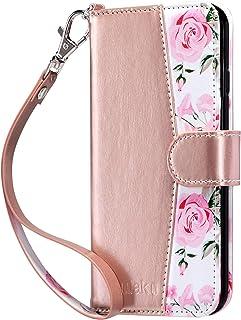 ULAK Wallet Case for iPhone 6s Plus, iPhone 6 Plus Case, Flip Folio PU Leather Kickstand Case with Card Slot Wrist Strap I...