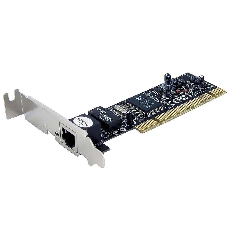 補う誤解するメディアStarTech.com 1ポート10/100Mbpsイーサネット増設PCIバス対応LANアダプタカード ST100SLP