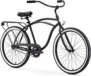 sixthreezero Around The Block Men's Beach Cruiser Bicycle or Electric Bike, 24-Inch and 26-Inch
