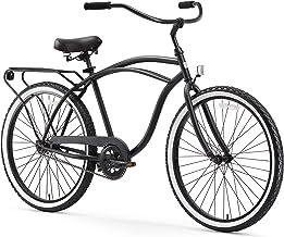 "sixthreezero Around The Block Men's Single-Speed Beach Cruiser Bicycle, 24"" Wheels, Matte Black..."