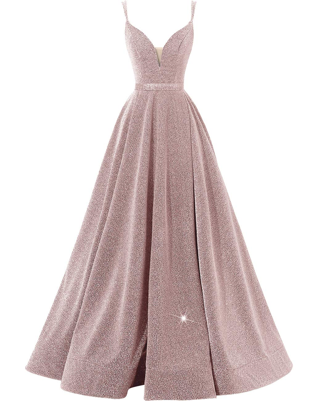 Plus Size Dresses - Women Sequin Bridesmaid Dress Sleeveless Maxi Evening Prom Dresses