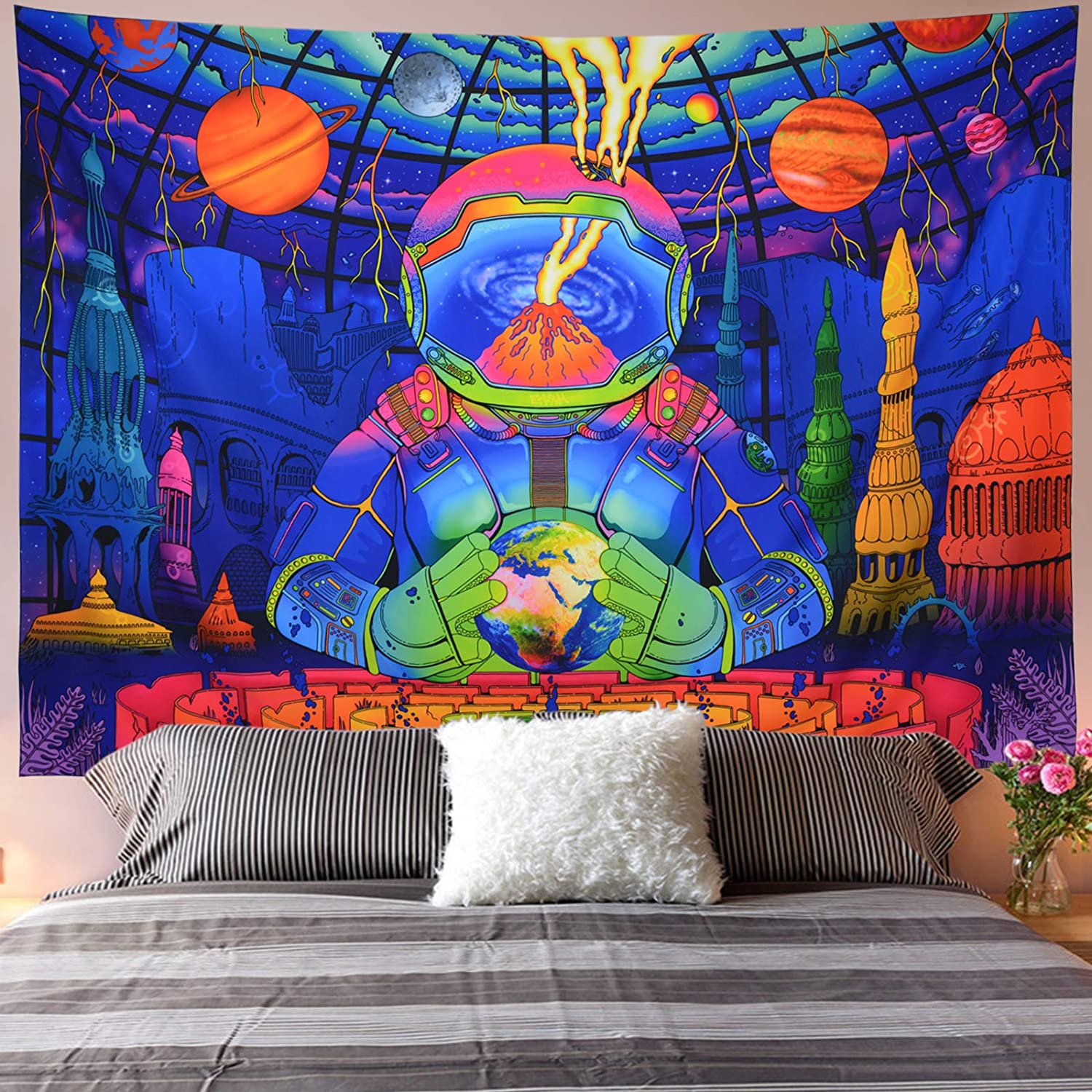 Max 69% OFF Galoker Industry No. 1 Trippy Astronaut and Tapestry Psy Galaxy Planet