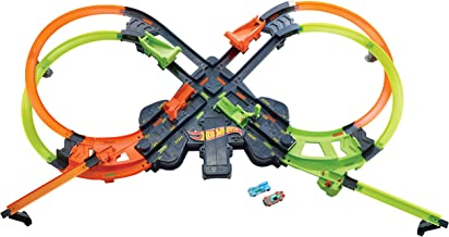 RC Car Race Track Set 3D Super Track Car Playset for Birthday Party Festival Gift Elec3 Racing Track Car Toys 1180cm DIY Double Rail Car Race Track Set 2 Hand-Operated Controllers 2 Cars