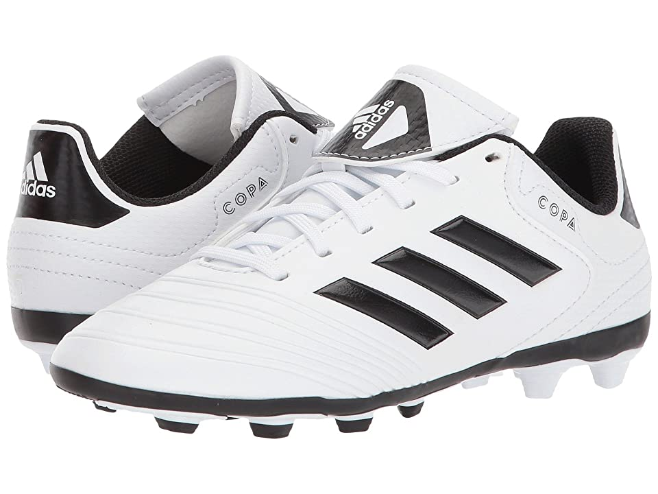 adidas Kids Copa 18.4 FG (Little Kid/Big Kid) (White/Black/Tactile Gold) Kids Shoes