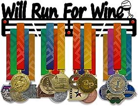 VICTORY HANGERS zal draaien voor wijn medaille houder Display Rack - 3 Bars zwart gecoat 3 mm staal metalen Hanger met muu...
