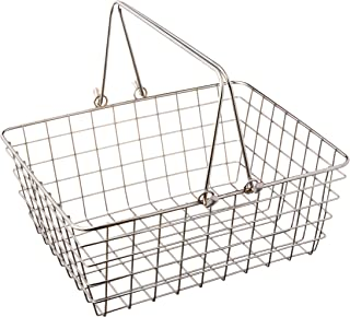 Spectrum Diversified Wire Storage Basket, Medium, Chrome (43270)