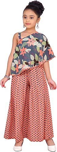 Girl s Top and Palazzo dress Peach 7 8 Years