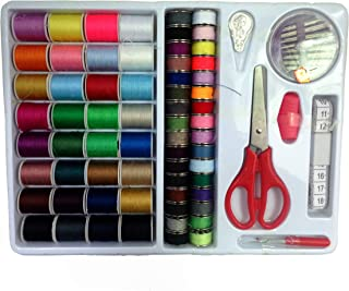 ISOTO Sewing Tool Kit 100 in1 Assorted Sewing Threads with Bobbins Thread Spools Sewing Kit Accessories for Basic Sewing M...