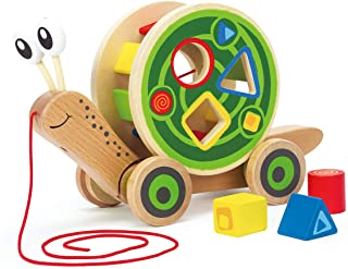 Hape E0349 Walk-A-Long Snail Toy