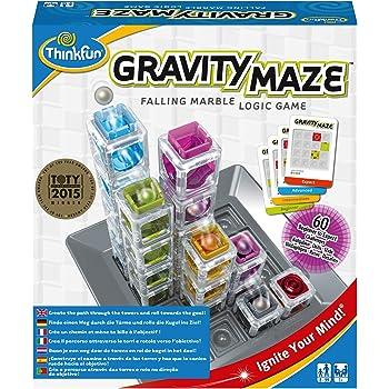 ThinkFun - Gravity Maze - Jeu de logique - Labyrinthe à bille en 3D - Jeu de réflexion STEM pour garçons et filles de 8 ans et plus -76339
