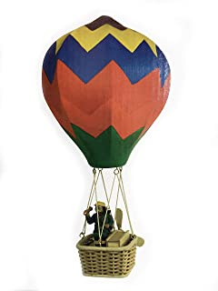 Wupper Airlines Wooden Hanging Mobile Windwheel Red
