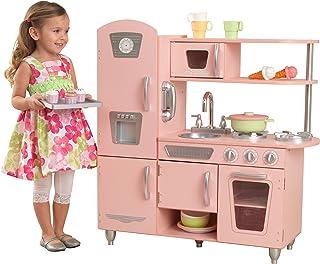 KidKraft 53179 - Cocina de juguete de madera vintage rosa
