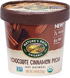 Nature's Path Dark Chocolate Cinnamon Pecan Oatmeal Cups, Healthy & Organic, 1.94 Ounces (Pack of 12)