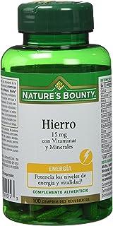 Nature's Bounty-Hierro Gentle Complex con Vitaminas C y B12-100 cápsulas