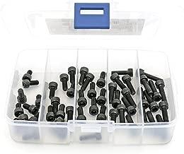 iExcell 50 Pcs M5 x 10mm/12mm/14mm/16mm/20mm 12.9 Grade Alloy Steel Hex Socket Head Cap Screws Bolts Assortment Kit, Black Oxide Finish
