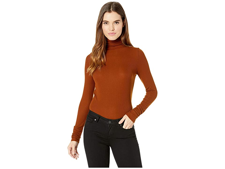 Image of AG Adriano Goldschmied Chels Turtleneck (Cognac) Women's Clothing