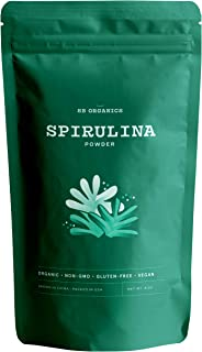 Sponsored Ad - SB Organics Spirulina Powder - 8 oz Bag of Organic Non-GMO Non-Irradiated Gluten-Free Vegan Pure Spirulina ...