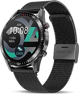 TagoBee Smartwatch Reloj Inteligente Hombres Mujer con Monitor de Sueño Presión Arterial Pulsómetros,1.3inch Pantalla Táct...