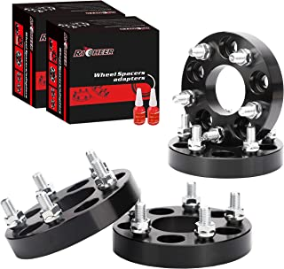 Richeer 5x4.5 Wheel Spacers for Jeep, 1 inch 5x114.3 Wheel Spacers for Jeep YJ TJ XJ KJ KK TY, Ford Explore Mustang Ranger-82.5mm hub bore 1/2 Stud