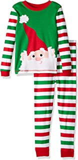 Image of Christmas Striped Santa Claus Pajamas for Toddler Boys